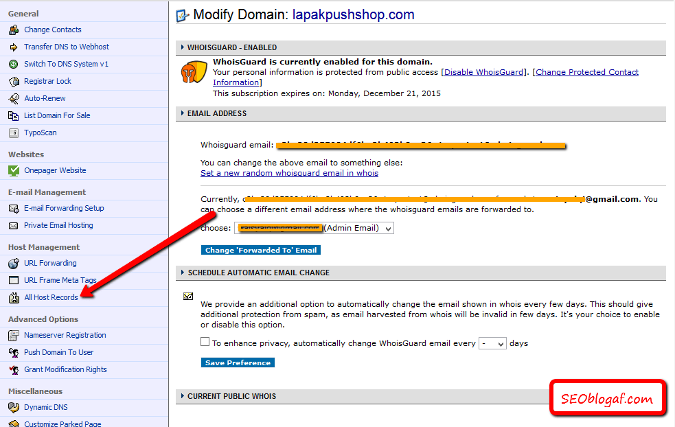 All host domain namecheap