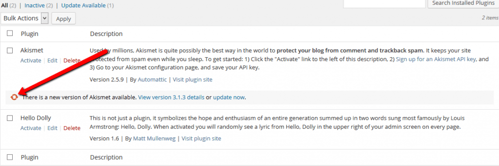 Update plugin blog wordpress