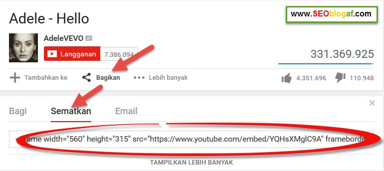 Cara Menambahkan Video Youtube di Blog WordPress