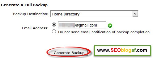 generate backup untuk download