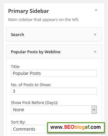Setting popular post blog