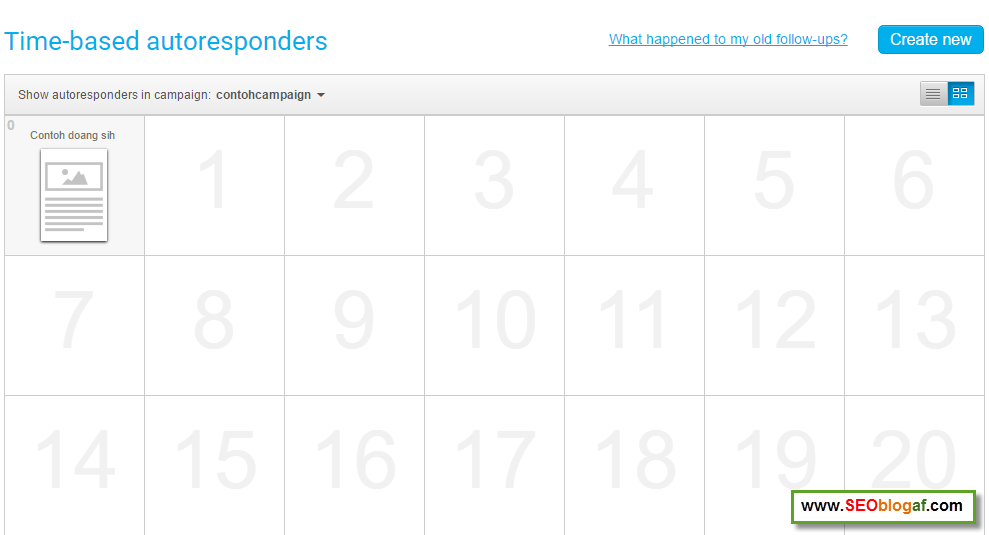 Kalender autoresponder getresponse