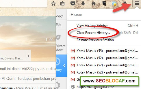 Cara Menghapus Cache Browser Mozilla Firefox